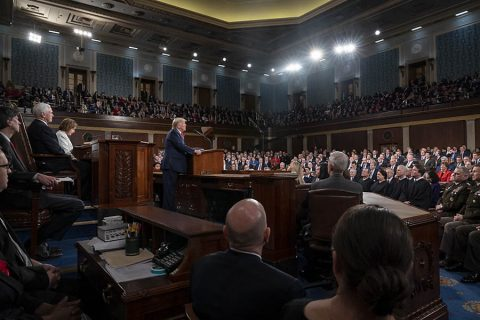 President Donald J. Trump delivers his State of the Union address.