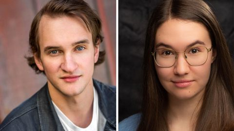 "Matthew Combs and Annabelle Szepietowski star as Matt and Luisa in ""The Fantasticks"" at the Roxy Regional Theatre, February 14th-29th."