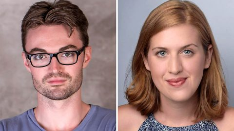 "Ian Alexander Erbe and Emma Jordan star in ""Dancing Lessons"" in the Roxy Regional Theatre's theotherspace, February 17th-25th."