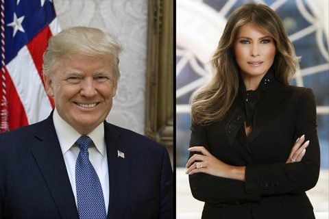 U.S. President Donald J. Trump and first lady Melania Trump