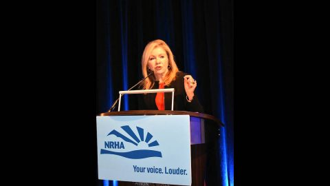 U.S. Senator Marsha Blackburn speaks at the National Rural Health Association's annual conference.