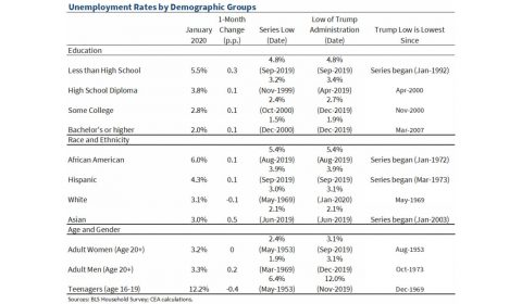 Unemployment Rate by Demographic Groups