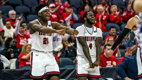 Austin Peay State University Men's Basketball takes down Eastern Illinois in OVC Tournament play Thursday night. The Govs will now face the Murray State Racers in the quarterfinals. (APSU Sports Information)