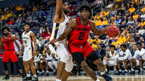 Austin Peay State University men's basketball junior Terry Taylor scored 27 points and pulled down 14 rebounds in loss to Murray State Friday night. (APSU Sports Information)