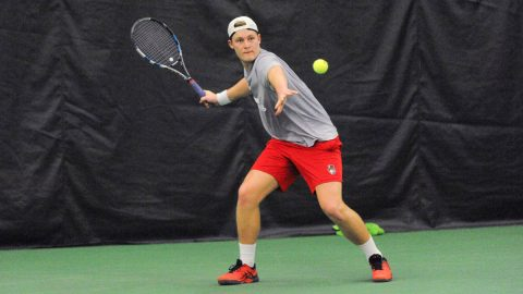Austin Peay State University Men's Tennis loses to Dayton at the Governors Tennis Center, Sunday. (APSU Sports Information)