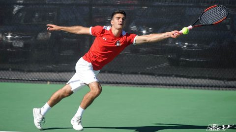 Austin Peay State University Men's Tennis finishes non conference play with win at Southern Indiana. (Casey Crigger, APSU Sports Information)