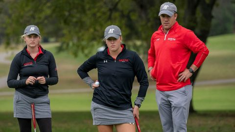 Austin Peay State University Women's Golf senior Meghann Stamps and junior Riley Cooper in top 20 at Benbow Invitational after first day. (APSU Sports Information)