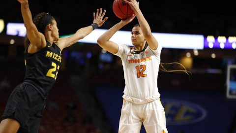 Tennessee Women's Basketball sophomore Rae Burrell scored 16 points to lead Lady Vols in win over Missouri, Thursday night. (UT Athletics)