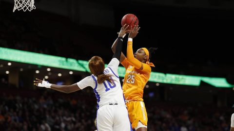 Tennessee Women's Basketball freshman #25 Jordan Horston had 24 points and 4 rebounds in loss to Kentucky Friday night. (UT Athletics)