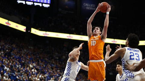 Tennessee Men's Basketball junior John Fulkerson knocked down 27 points and nabbed 6 rebounds in win over Kentucky, Tuesday night. (UT Athletics)