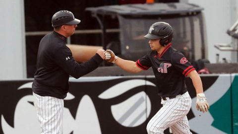 Austin Peay State University Baseball gets 10-1 win over Western Illinois at Raymond C. Hand Park, Wednesday night. (Robert Smith, APSU Sports Information)