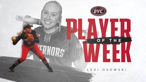 Austin Peay State University Softball's Lexi Osowski named OVC Player of the Week. (APSU Sports Information)