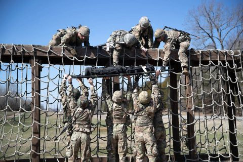 Austin Peay State University ROTC cadets train at Fort Campbell, Kentucky, recently. (APSU)