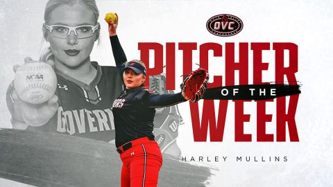 Austin Peay State University Softball's Harley Mullins goes 3-0 over the weekend to earn OVC Pitcher of the Week award. (APSU Sports Information)