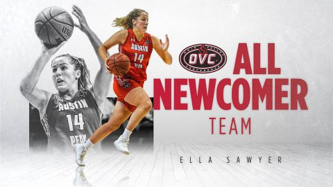 Austin Peay State University Women's Basketball guard Ella Sawyer named to OVC All-Newcomer team. (APSU Sports Information)