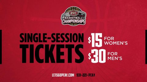 Austin Peay State University Basketball single-session tickets on sale now for OVC Tournament. (APSU Sports Information)