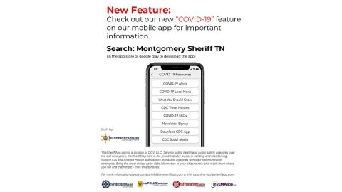 COVID-19 Feature - Montgomery County Sheriff's Office, Clarksville Tennessee