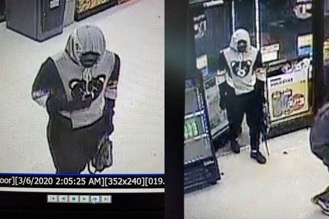 Clarksville Police request public help identifying the armed robbery suspect in this photo.