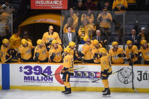Nashville Predators move into a wild-card spot with tonight's win over the Montreal Canadians, 4-2.  (Michael Strasinger)