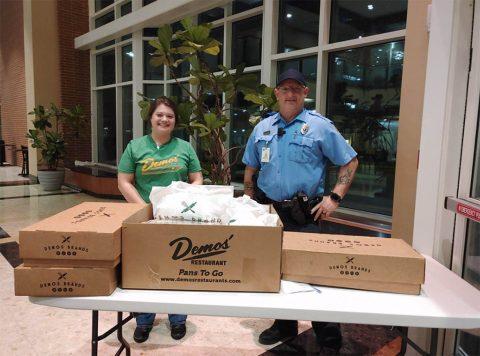 Katlin Davis, a manager at Demos' Restaurant in Hendersonville, and Jamie Woods, director of facility support at Sumner Regional Medical Center.