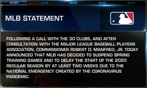 Major League Baseball statement on Coronavirus