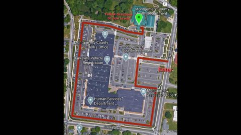 Montgomery County Health Department traffic pattern map