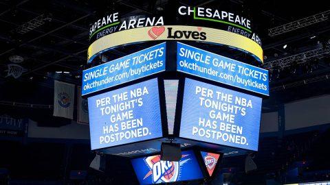 Jazz and Oklahoma City Thunder at Chesapeake Energy Arena game canceled, Wednesday. (NBA)