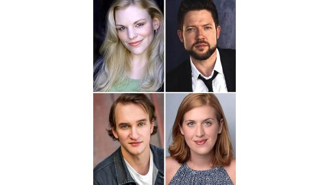 "(Clockwise from top left) Sara Anderson, Adam Zarowski, Emma Jordan and Matthew Combs star in ""A Streetcar Named Desire"" at the Roxy Regional Theatre, March 13th-28th"