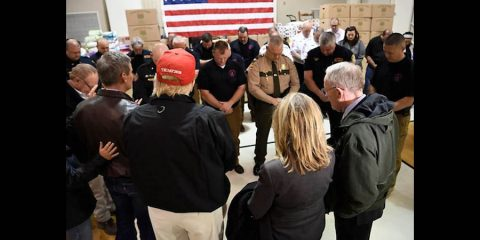 President Trump visited some of Tennessee's affected communities, and I appreciate his support. Tennesseans are resilient, and we will come through this difficult time stronger than ever. (Photo credit to George Walker IV, The Tennessean)