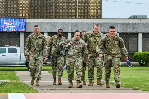 Soldiers of 101st Airborne Division Sustainment Brigade, 101st Division (Air Assault), deployed to New Jersey as part of the nation's response to the COVID-19 pandemic. (Spc. Beverly Roche, 40th Public Affairs Detachment)