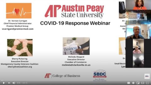 Austin Peay State University College of Business hosted a public COVID-19 Coronavirus webinar last week. (APSU)