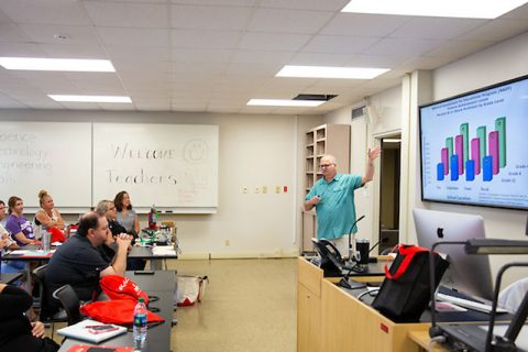Austin Peay State University professor Dr. Philip Short giving a lecture last summer. (APSU)