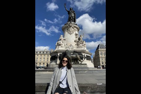 Austin Peay State University freshman Madison Morgan in Paris in the Place de la République. (APSU)