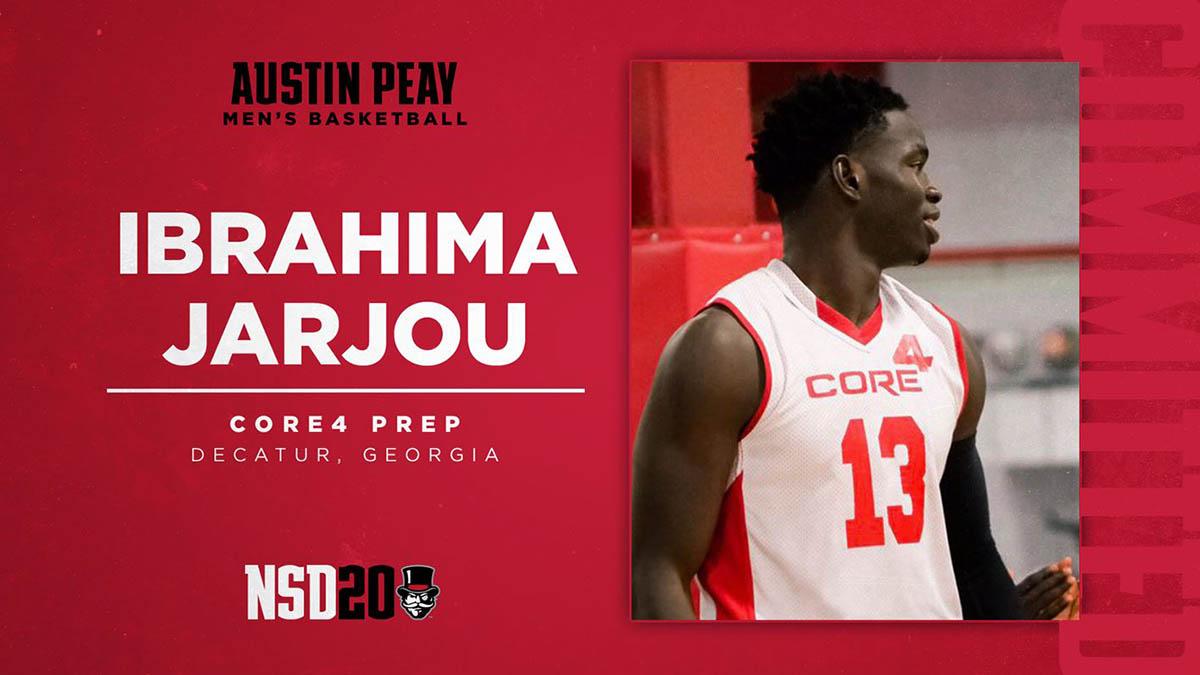 Ibrahima Jarjou to join Austin Peay State University Men's Basketball for 2020-21 season. (APSU Sports Information)