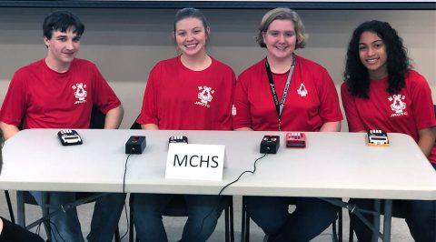 Montgomery Central High School JROTC Academic Bowl participants include: (from left) Christian Chesser, Julia Easter, Cheyenne Douthitt, and Abria Peoples.