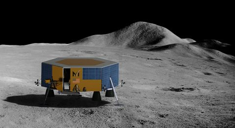 Masten's XL-1 lunar lander will deliver science and technology payloads to the Moon's South Pole in 2022. (Masten Space Systems)