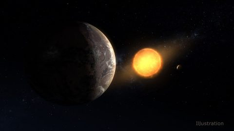 This artist's concept shows what exoplanet Kepler-1649c could look like on its surface. The planet is the closest to Earth in size and temperature found yet in data from the Kepler space telescope. (NASA/Ames Research Center/Daniel Rutter)