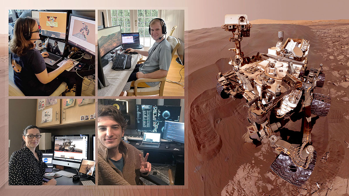 NASA Scientists Operate Mars Rover From Home