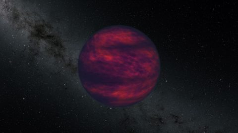 This artist's concept shows a brown dwarf, an object that is at least 13 times the mass of Jupiter but not massive enough to begin nuclear fusion in its core, which is the defining characteristic of a star. Scientist using NASA's Spitzer Space Telescope recently made the first ever direct measurement of wind on a brown dwarf. (NASA)