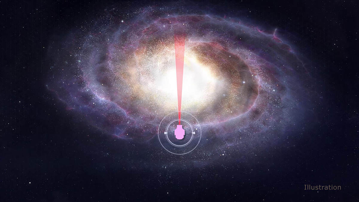 NASA's WFIRST will make its microlensing observations in the direction of the center of the Milky Way galaxy. The higher density of stars will yield more exoplanet detections. (NASA's Goddard Space Flight Center/CI Lab)