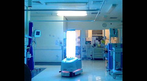 UV Robot Disinfects ER Room