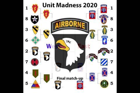 Unit Madness 2020 Challenge winner, 101st Airborne Division (Air Assault).