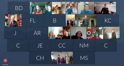 Austin Peay State University virtual commissioning ceremony. (APSU)