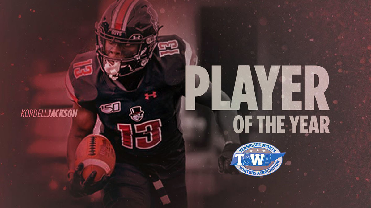 Austin Peay State University Football's Kordell Jackson named TSWA Player of the Year. (APSU Sports Information)