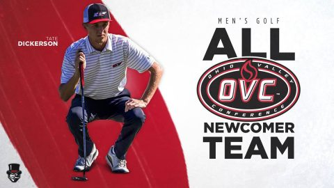 Austin Peay State University Mens Golf's Tate Dickerson earns spot on OVC All-Newcomer team. (APSU Sports information)
