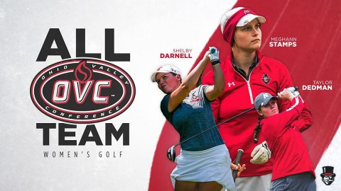Austin Peay State University Golf's Taylor Dedmen, Shelby Darnell and Meghann Stamps earn All-OVC honors. (APSU Sports Information)