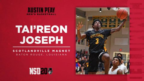 Austin Peay State University Men's Basketball brings Tai'reon Joseph onboard for 2020-2021. (APSU Sports Information)