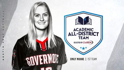 Austin Peay State University Softball team's Emily Moore named to CoSIDA Academic All-District® Team. (APSU Sports Information)