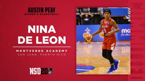 Austin Peay State University Women's Basketball adds guard Nina De Leon for the 2020-21 season. (APSU Sports Information)