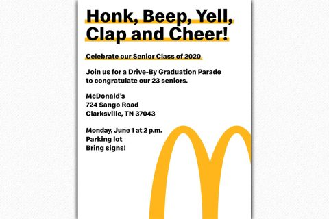 Clarksville McDonalds to hose Graduation Parade on Monday